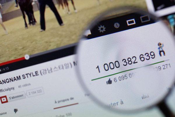 Register views wekî ku gelek li ser youtube