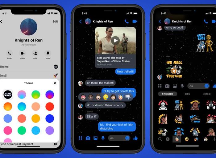 Cómo instalar el tema Star Wars en Facebook Messenger