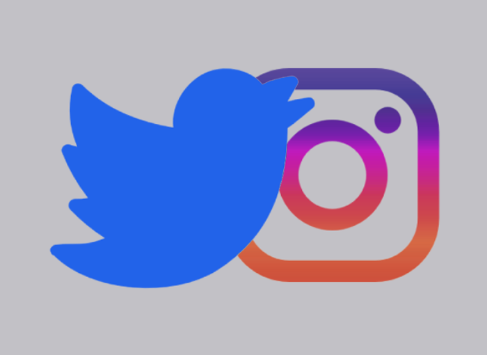 Twitter e Instagram